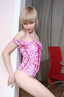 Cute In Red Stockings Stripping Euro Teen - Picture 6
